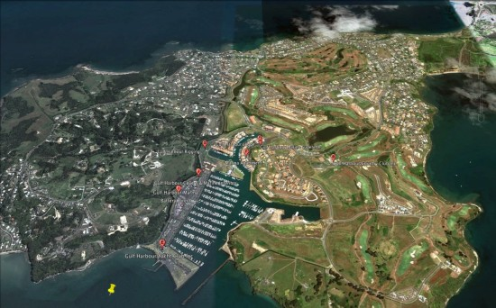 Google Earth View of Gulf Harbour Marina