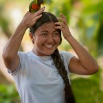 May Flor with Lorikeet