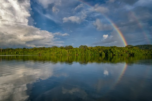 Rainbow in Mbaeroko Bay