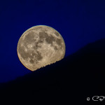 Supermoon from Boat Bay anchorage, July 12, 2014