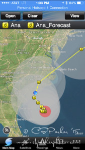 Projected Storm Track - AVATAR is the blue dot!